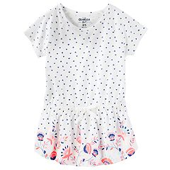 Girls 4-12 OshKosh B'gosh® Heart Print Slubbed Tunic Top