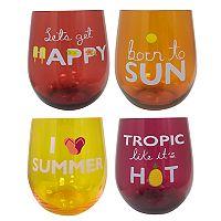 Celebrate Summer Together 4-pc. Stemless Wine Glass Set