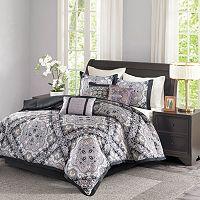 Madison Park 7-piece Florence Black Comforter Set
