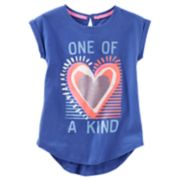 "Girls 4-12 OshKosh B'gosh® ""One Of A Kinf"" Heart Graphic Tunic Top"