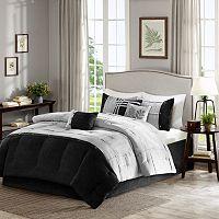 Madison Park 7-piece Calvert Gray Comforter Set