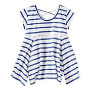 Girls 4-12 OshKosh B'gosh® Striped Handkerchief Hem Tunic Top
