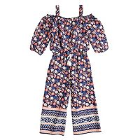 Girls 7-16 My Michelle Cold Shoulder Jumpsuit