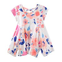 Girls 4-12 OshKosh B'gosh® Floral Handkerchief Hem Tunic Top