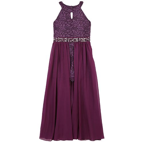 Girls 7-16 Speechless Lace Maxi Overlay Dress