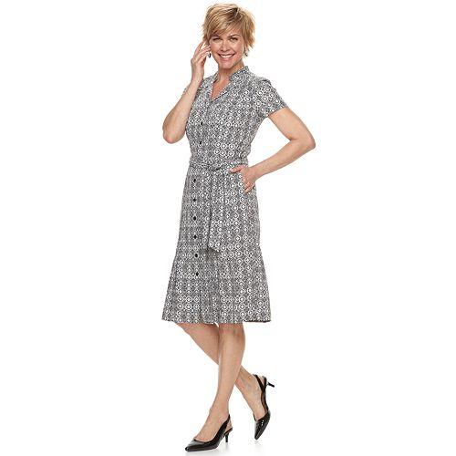 Women's Dana Buchman Notch Collar Dress