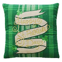 Celebrate St. Patrick's Day Together ''Happy St. Patrick's Day'' Mini Throw Pillow