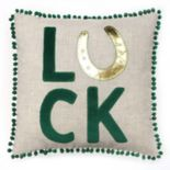Celebrate St. Patrick's Day Together ''Luck'' & ''Love'' Reversible Throw Pillow