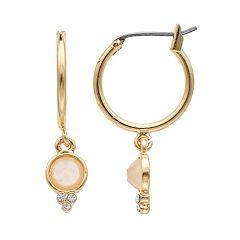 LC Lauren Conrad Round Drop Nickel Free Hoop Earrings