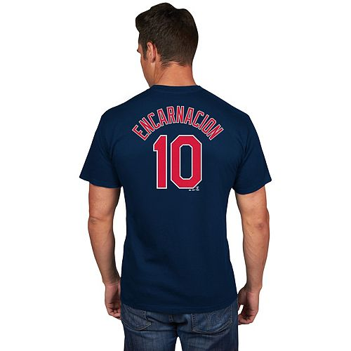 Men's Majestic Cleveland Indians Edwin Encarnacion Name & Number Tee