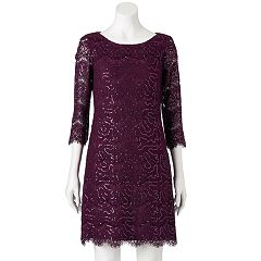 Women's Jessica Howard Sequin Lace Shift Dress