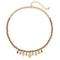 LC Lauren Conrad Woven Geometric Stone Necklace