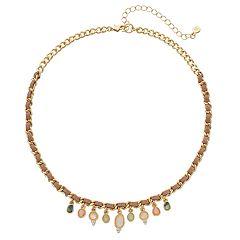 LC Lauren Conrad Woven Geometric Stone Necklace