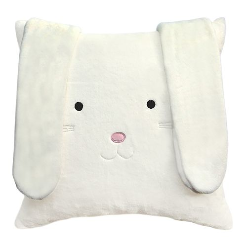 Celebrate Easter Together Bunny Face Throw Pillow