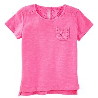 Girls 4-12 OshKosh B'gosh® Eyelet Pocket Tee