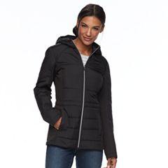 Women's Wildflower Hooded Mixed-Media Jacket