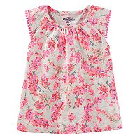 Girls 4-12 OshKosh B'gosh® Pom Pom Trim Flutter Sleeve Tee