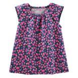 Girls 4-12 OshKosh B'gosh® Flutter Sleeve Pom Pom Trim Tee