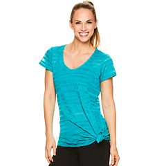 Women's Gaiam Striped Burnout Yoga Tee