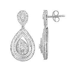 1 Carat T.W. Diamond Teardrop Earrings
