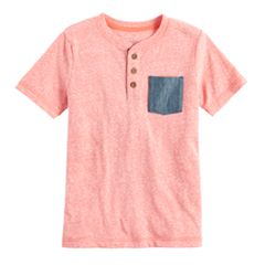 Boys 4-7x SONOMA Goods for Life™ Coral Heathered Henley