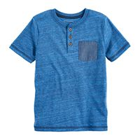 Boys 4-7x SONOMA Goods for Life™ Blue Heathered Henley