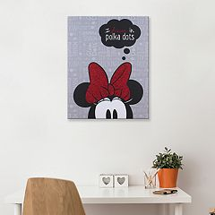 Disney's Minnie Mouse 'Polka Dots' Canvas Wall Art