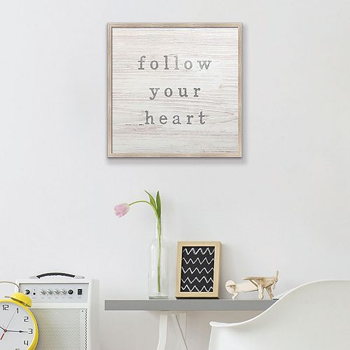 "Artissimo Designs Faux Wood ""Heart"" Canvas Wall Art"