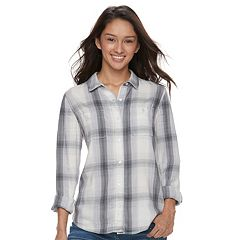 Juniors' Mudd® Plaid Shirt