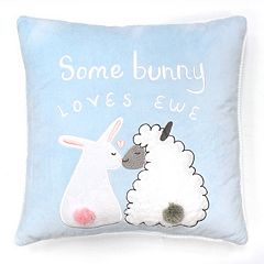 Celebrate Easter Together ''Some Bunny Loves Ewe'' Throw Pillow