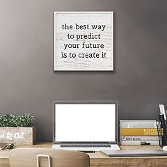 Artissimo Designs 'Your Future' Framed Canvas Wall Art