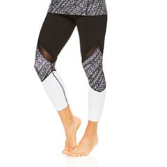 Women's Gaiam Mantra Mesh Yoga Capri Leggings