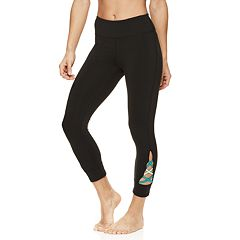 Women's Gaiam Om Pop Strappy Yoga Capri Leggings