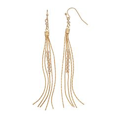 LC Lauren Conrad Beaded Chain Tassel Nickel Free Drop Earrings