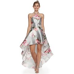 Juniors' Speechless Floral High-Low Prom Dress