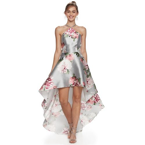 8b695bfec27 Juniors  Speechless Floral High-Low Prom Dress