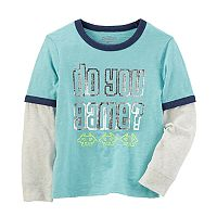 Boys 4-12 OshKosh B'gosh® Space Invaders Mock Layer Ringer Tee