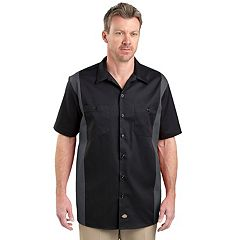 Men's Dickies Regular-Fit Colorblock Button-Down Work Shirt