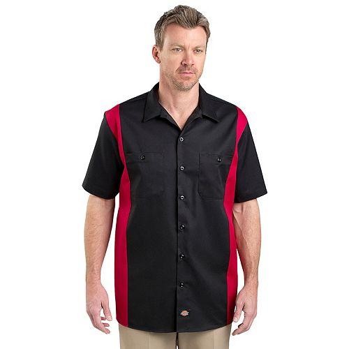 Men's Dickies Regular-Fit Colorblock Button-Down Work Shirt