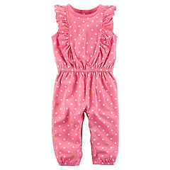 Baby Girl Carter's Flutter Polka-Dot Jumpsuit