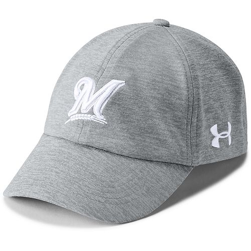 21ea9037393 Women s Under Armour Milwaukee Brewers Renegade Twist Cap