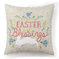 Celebrate Easter Together ''Easter Blessings'' Mini Throw Pillow