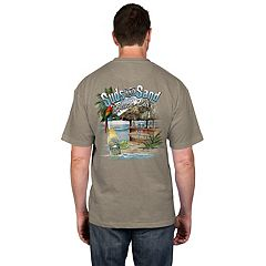 Men's Newport Blue 'Suds and Sand Beach Bar' Tee