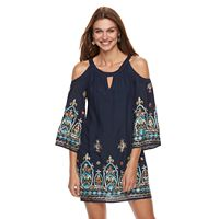 Petite Chaya Embroidered Cold-Shoulder Dress