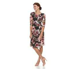 Petite Chaya Floral Print Lace Dress