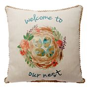 Celebrate Easter Together ''Welcome to Our Nest'' Throw Pillow