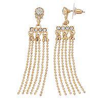 LC Lauren Conrad Beaded Chain Nickel Free Cascade Drop Earrings