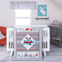 Trend Lab 4 pc Moose Canoe Crib Bedding Set