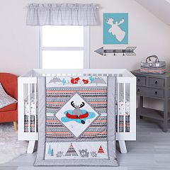 Trend Lab 4-pc. Moose Canoe Crib Bedding Set