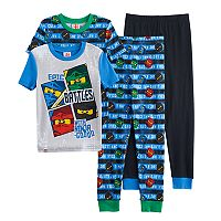 Boys 4-10 Lego Ninjago Glow-In-The-Dark 4-Piece Pajama Set